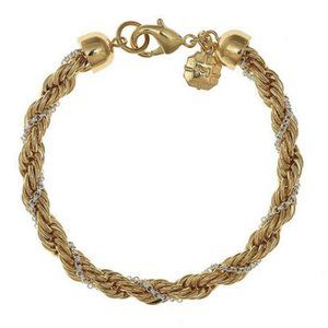 Monet gold and silver chain bracelets.